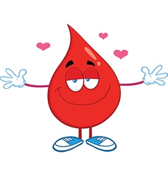 Drop of blood cartoon character vector image