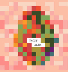 Easter egg colorful image and happy easter vector