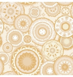 Eastern Morocco Pattern in Sand Colors vector image