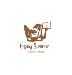 Enjoy summer reading book vector