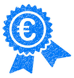 European guarantee seal grunge icon vector
