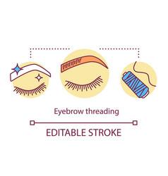 Eyebrow threading concept icon beauty service vector