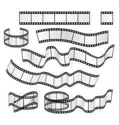 Film strip set film frames collection vector
