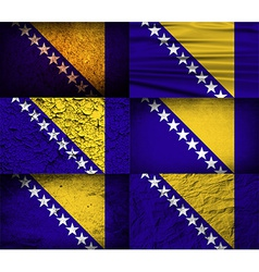 Flag of Bosnia and Herzegovina with old texture vector image