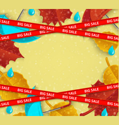 flat abstract orange leaves pattern big sale vector image