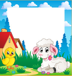 frame with easter theme 3 vector image