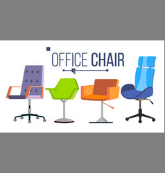 Furniture chairs home office objects vector