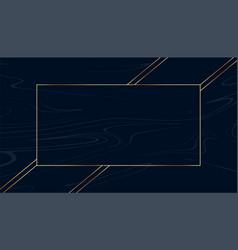 golden text frame on black dark background vector image