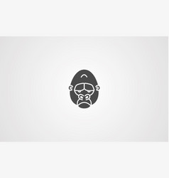 gorilla icon sign symbol vector image