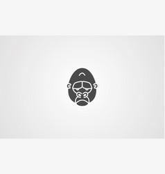 gorilla icon sign symbol vector image