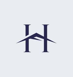 h mountain logo vector image