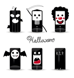halloween icons pack vector image