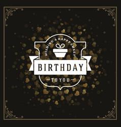 Happy birthday greeting card design vector