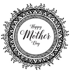 Happy mother day typographical design vector