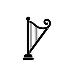 Harp string instrument melody sound music vector