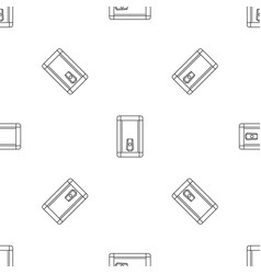 home heater boiler icon outline style vector image