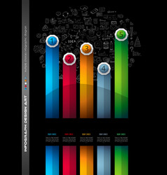 Infograph brochure template with a lot of choices vector