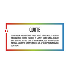 innovative colorful quotation template frame in vector image