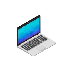 isometric of laptop on white vector image