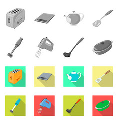 Kitchen and cook icon set vector