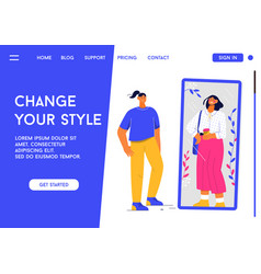 Landing page change your style concept vector