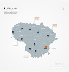 Lithuania infographic map vector