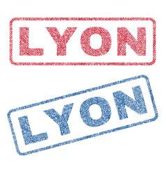 Lyon textile stamps vector