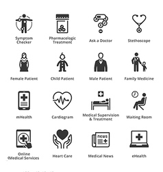 Medical and Health Care Icons - Set 2 vector
