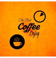 Menu for restaurant the best coffee enjoy use vector
