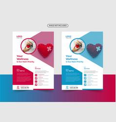 Modern medical flyer template design vector