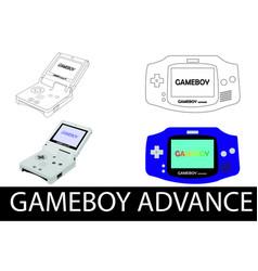 nintendo gameboy advance vector image