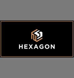 Ns hexagon logo design inspiration vector