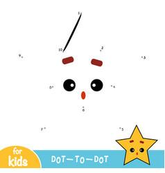 numbers game education game for children star vector image