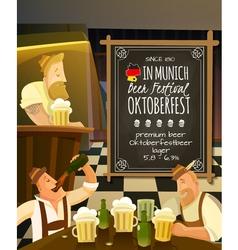 Octoberfest in pub vector