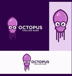 Octopus logo design templates stock vector
