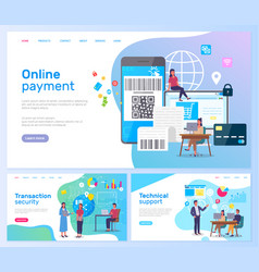 online payment transaction security technical vector image