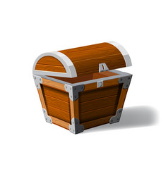 open pirate chest wooden box symbol of wealth vector image