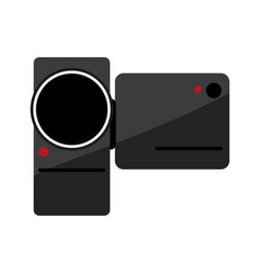 portable video camera icon image vector image