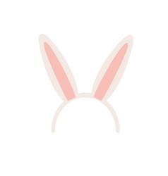 rabbit ears isolated icon vector image