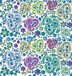 seamless background Russian pattern vector image