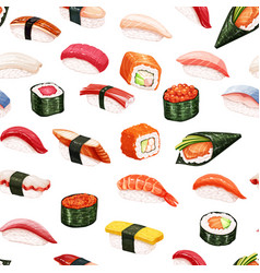 Seamless pattern japanese food vector