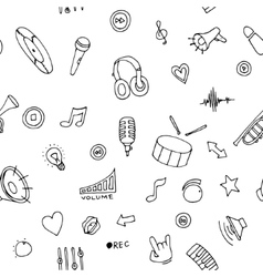 seamless pattern music doodles vector image