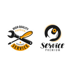 service logo repair maintenance work label or vector image