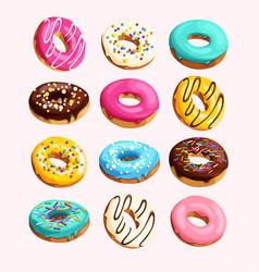 Set donuts vector