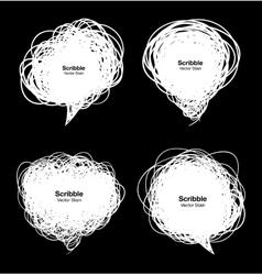 Set of Scribble white bubbles vector
