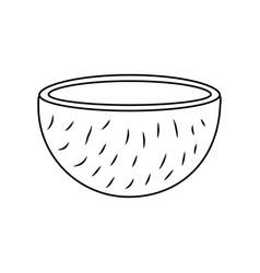 slice coconut tropical fruit health nutrition food vector image