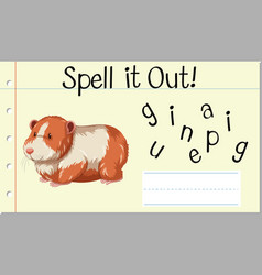 Spell it out guinea pig vector