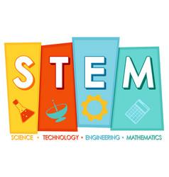 Stem education logo banner on white background vector