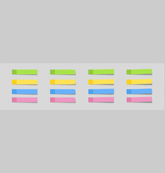 Sticky note set in realism with shadow on vector