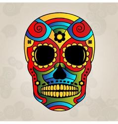 sugar skull mexico day dead vector image